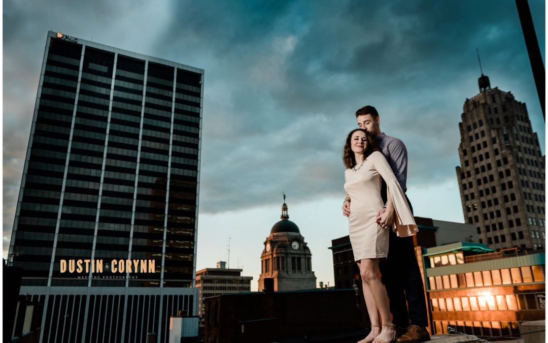 Mackenzie & Logan // Downtown Fort Wayne Engagement Session