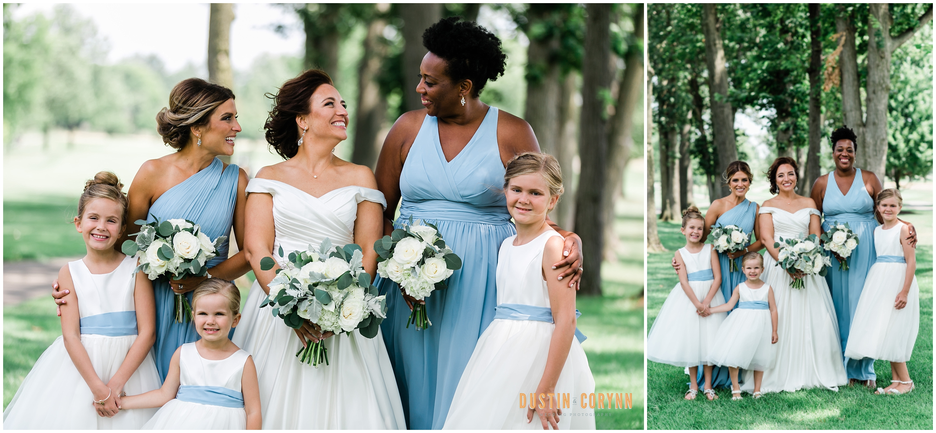 Bride, Bridesmaids, and Flower Girls at Pine Valley Country Club Wedding