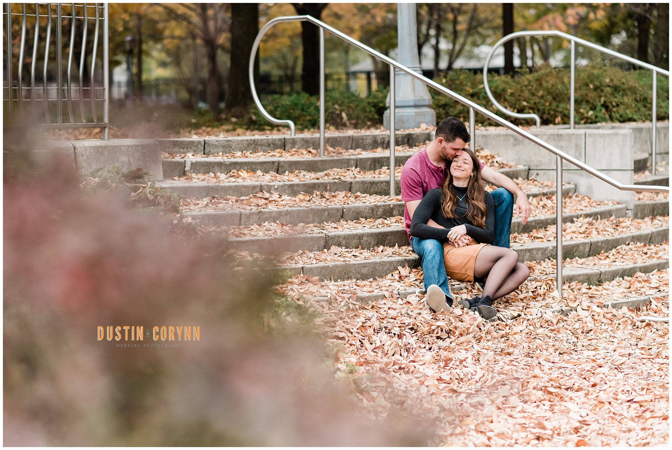 Kissing on the Steps