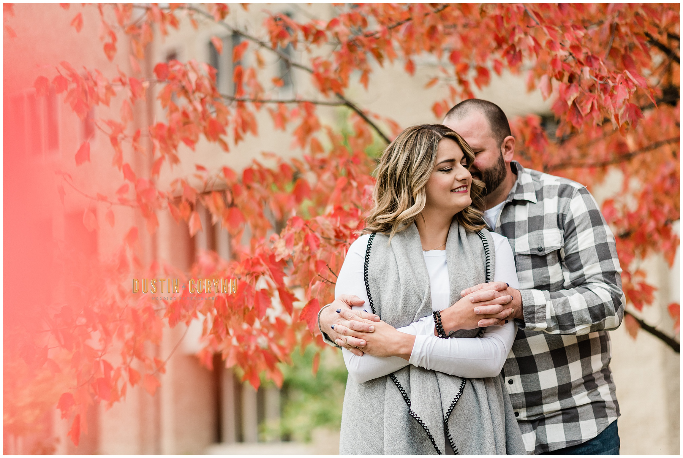 Notre Dame Engagement Session in Autumn