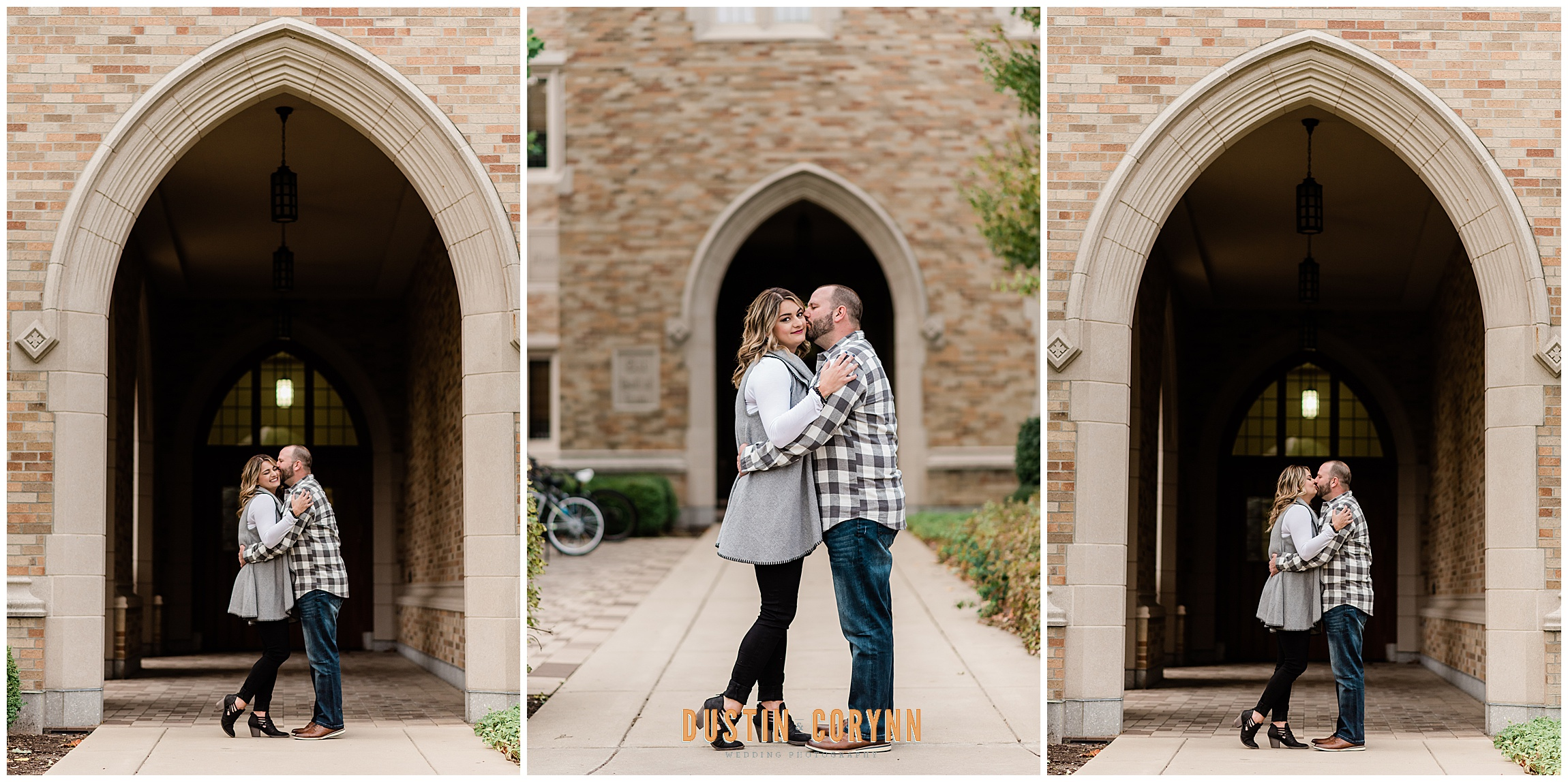 Engagement Photos at Notre Dame Law Building
